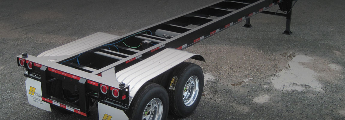 40' Straight Frame Container Chassis   Hercules Chassis